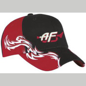 C859 - Port Authority® - Colorblock Racing Cap with Flames.