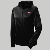 L248 <- Ladies Tech Fleece Full Zip Hooded Jacket <> Embroidered (125.131)